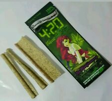 Rolling Papers Blunt Wraps Tabacco Free 100% Cannabis. NO THC 1 Pack 3 x 5-packs
