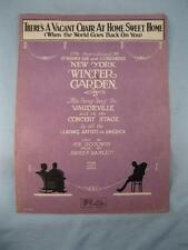 Theres A Vacant Chair At Home Sweet Home Sheet Music Vintage 1920 Hanley (O)