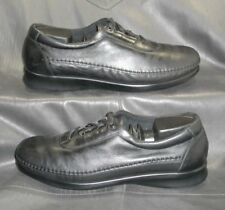SAS Tripad Comfort Traveler black leather moc toe oxfords Women's shoes size 9 N