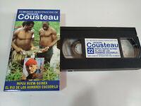 Jacques Cousteau - Papua Nueva Guinea Rio de los Hombres Cocodrilo - VHS Español