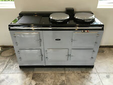 Aga Cooker - Fully Refurbished Four Oven 13 amp Aga in Pearl Ashes & Chrome Lids
