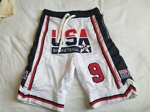Custom '92 Olympic Dream Team Basketball Shorts Sz L Last Dance Just Don