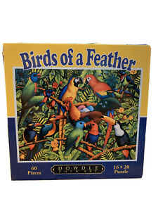 """Dowdle Puzzle Kids 60 Pieces Tropical Birds Of A Feather 16"""" X 20"""""""