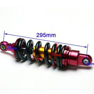 """295mm 11.6"""" Rear Shock Dirt Pit Bike SDG SSR Taotao Coolster 110cc 125 cc SUNL"""
