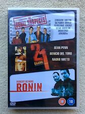 21 Grams/Ronin/The Usual Suspects BRAND NEW, FACTORY SEALED, 3 DVD Set 2009