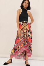 Anthropologie Bhanuni by Jyoti Christia High Low Maxi Skirt Floral Tropical Sz 6