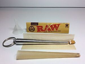 ROLL YOUR OWN CONE MAKER ROLLING GUIDE ROLLER TOOL FUNNEL RAW KING SLIM  PAPERS