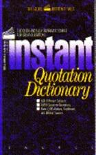 INSTANT QUOTATION DICTIONARY (Laurel Reference Shelf)-ExLibrary