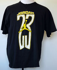 Vintage Nike Air Jordan 23 Black S/S 100% Cotton T-Shirt L