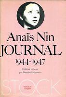Anaïs Nin = JOURNAL 1944 - 1947 c. Gunther Stuhlmann,  4 vol.