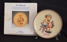 "Hummel Goebel ""1993"" Annual Plate "" Doll Bath - Tmk-7 # Hum 289 Nib"
