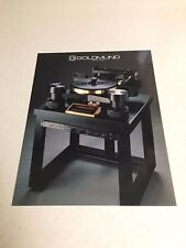 Goldmund Reference Turntable Original Brochure RARE