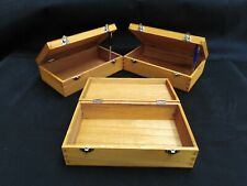 3 X LARGE WOODEN COATED BOXES DISPLAY ITEM STORAGE BOX
