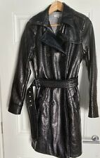Studio By Preen  Black Patent PVC Trench Coat/ Mac. Size 10. Immaculate