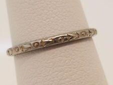 Edwardian platinum wedding band or ring