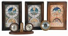 Clocks- 4 (Four) and 1 (One) Barometer and 1 (One) gimbaled compass: ... Lot 618