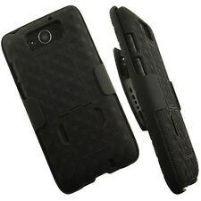 Black Defender Armor Box Cover Case Hybrid Belt Clip For Droid Ultra/Maxx XT1080