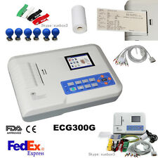 12-lead Digital 3-channel Electrocardiograph ECG/EKG Machine interpretation US