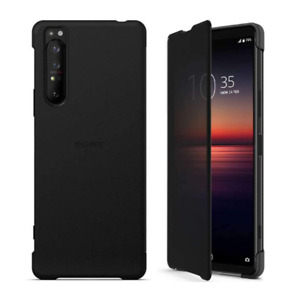 SONY FLIP COVER CASE FOR XPERIA 1 II MIL-STD IPX5 RATED - BLACK - 1321-6179