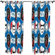 "STAR WARS 66"" X 72"" EPISODE 7 FORCE AWAKEN READY MADE CURTAIN SET MATCHES DUVET"
