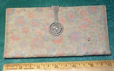 Vintage GUCCI LEATHER WALLET w/ SILVER ROMAN CHARIOT COIN in STERLING CLASP