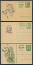 India 1969 Gandhi Centenary Fine Post Office fresh set Of 3 Different Post cards