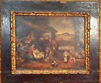 ADORATION DES BERGERS. O/L. ANCIEN CADRE. ÉCOLE NÉERLANDAISE. XVII SIÈCLE.