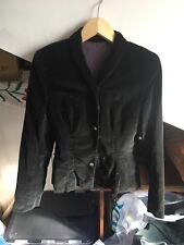 Black velvet fitted jacket vintage handmade steampunk gothic