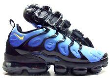 new style 0c182 750c0 NIKE AIR VAPORMAX PLUS BLACK CHAMOIS-HYPER BLUE SIZE MEN S 13  924453-