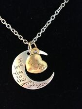 """Fashion Jewelry Silver Gold Plated I Love You To The Moon & Back """"Sister"""""""