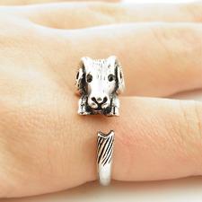 Animal Wrap Ring Silver Ram Adjustable Size 9 Ring