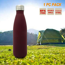 500ml Cola Shaped Outdoor Sport Water Bottle Double Wall Gym Camping Yoga Kettle