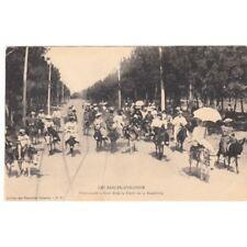 Cartes postale anciennes LES SABLES-D'OLONNE promenade à ânes dans la forêt de l