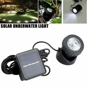 Solar Spotlights Underwater Projection 6 LED Lights Outdoor Garden Pond Lighting