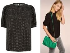 Womens NEXT BLOUSE Ladies Shell Tunic Top Spot Ditsy Print Work Shirt Party Size
