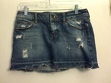 Billabong Distressed Denim Jean Skirt Size 7