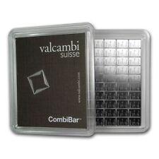 AVC- 100x 1 gram Silver Bar - Valcambi Silver CombiBar™ (w/Assay)