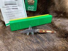1971 Vintage Puma 835 Junior Knife & Jacaranda Handles  Mint In Green Yellow Box