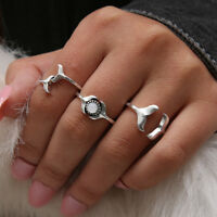 Cn /_ Femmes Plaqué Argent Chat Chaton Animal Strass Yeux Ouvert Articulation