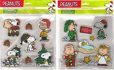 Peanuts Christmas Window Gel Clings: Charlie Brown, Linus, Sally, Snoopy + more!