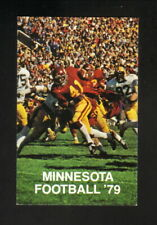 Minnesota Golden Gophers--Marion Barber--1979 Football Schedule--First Banks