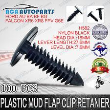 100 x Plastic Mud Flap  Retainer Clips Ford Falcon AU BA BF FG XR6 XR8 Car Door