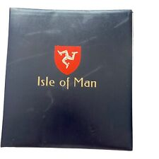 Stanley Gibbons Isle of Man stamp album 2 peg system 1973 -1983 32 pages