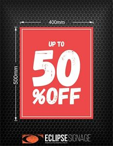 Promotional Sign UP TO 50% OFF (Poster)