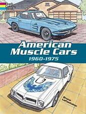 American Muscle Cars Paperback Relaxing Antistress Coloring Book For Kids Adults
