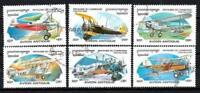 Aviones Camboya (42) conjunto completo de 6 sellos matasellados