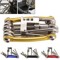 11 In 1 Multi Tool Bicycle Bike Allen Hex Keys Screwdriver Chain Link Tool MTB
