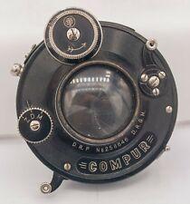 """Rare 1915 - Rietzschel Linear 120mm F4.5 4x5"""" Large Format Lens - Compur Shutter"""