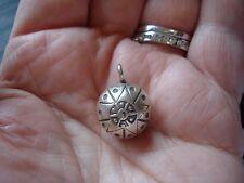 .999 SOLID Fine Silver Thai Karen Hill Tribe 20x15x13mm Bell Charm