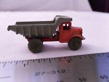 Vintage Lesney England Dump Truck Orange/Gray
